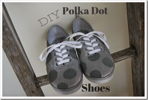 diy polka dot shoes