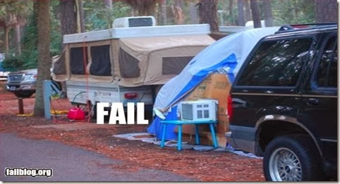 epic fail camping, how to stay cool when camping, tent camping