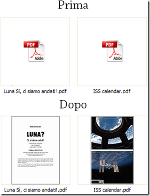 PDF Previewer effetto miniature su i file PDF