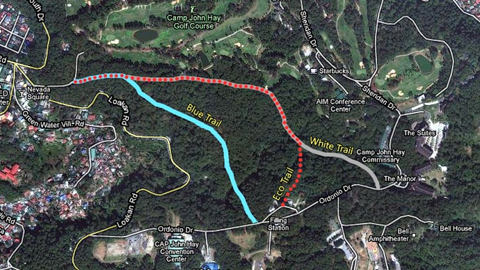 Baguio's Eco-Trail Map.  Click to view on Google Maps