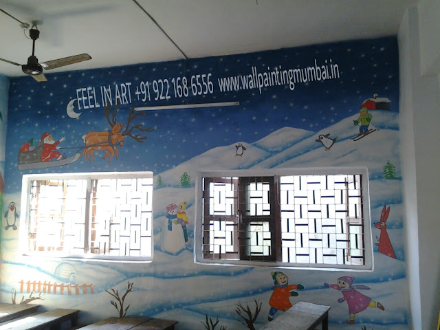 PLAY SCHOOL CLASSROOM WALL ART MUMBAI INDIA