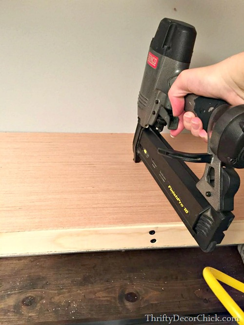building thick wood shelves