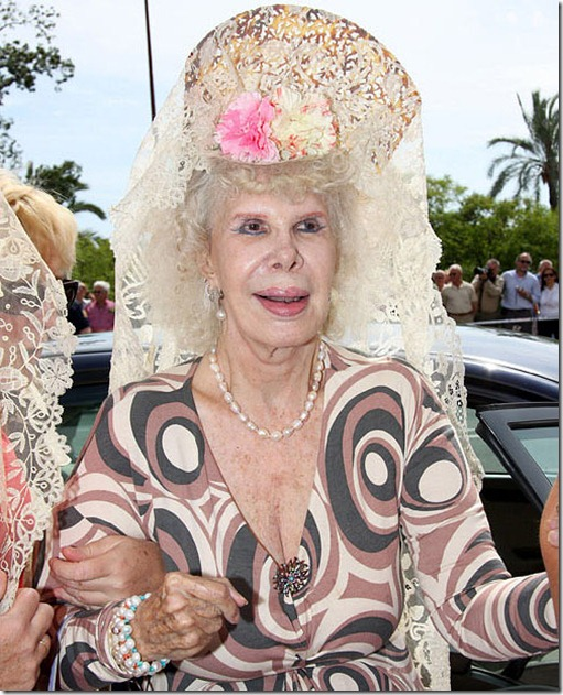 The Duchess of Alba Cayetana Fitz-James Stuart Seville, Spain - 22.05.08 ** **...C0NF1D The Duchess of Alba Cayetana Fitz-James Stuart Seville, Spain - 22.05.08 ** **