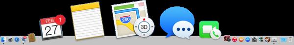Bulgy Mac OS Dock