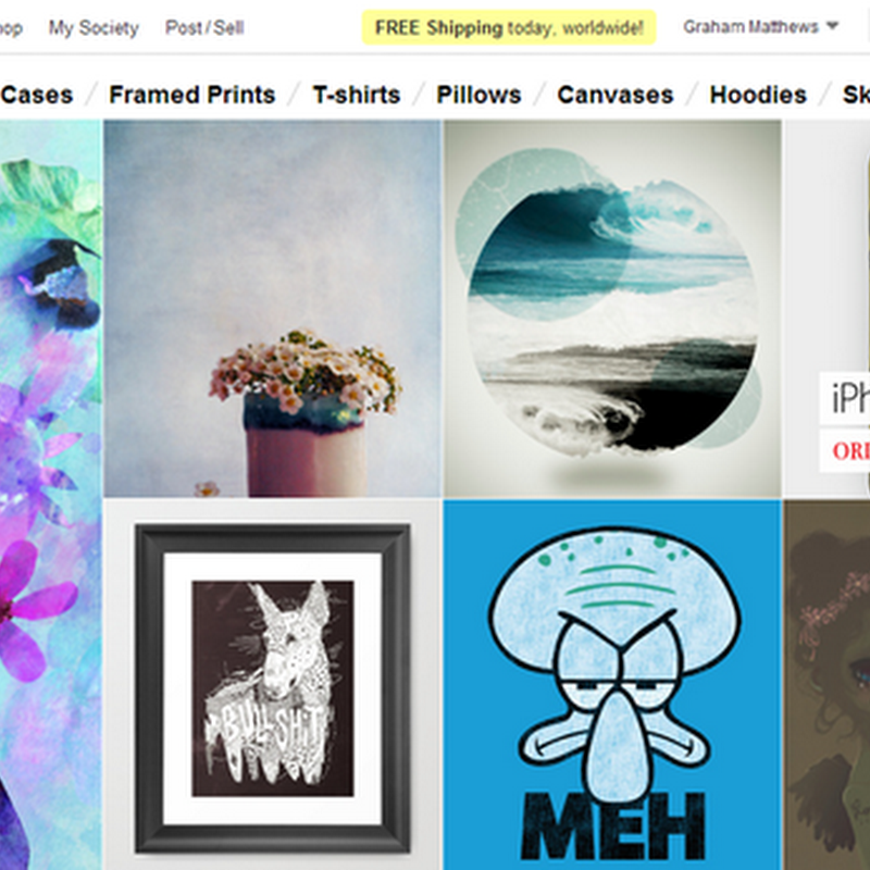 Society6 - Selling Art on T-Shirts, Ipod Cases and more