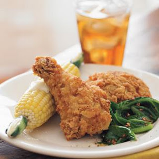 Southern Fried Chicken with Corn on the Cob.