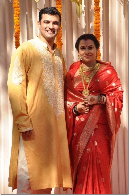 Bollywood Actress Vidya Balan Wedding Photos