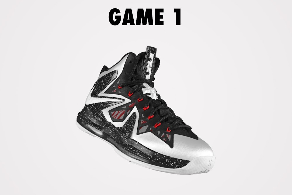DIY: Nike LeBron X PS Elite iD White & Black (Game 1 ...