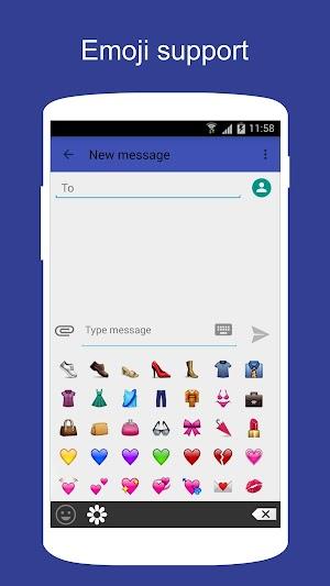 3 SMS KK (SMS/MMS, Lollipop SMS) App screenshot
