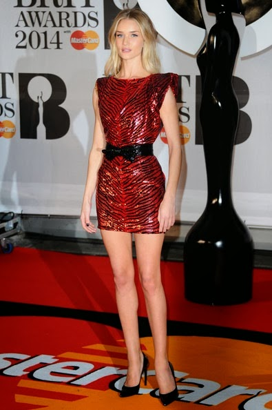 Rosie Huntington Whiteley Arrivals BRIT Awards