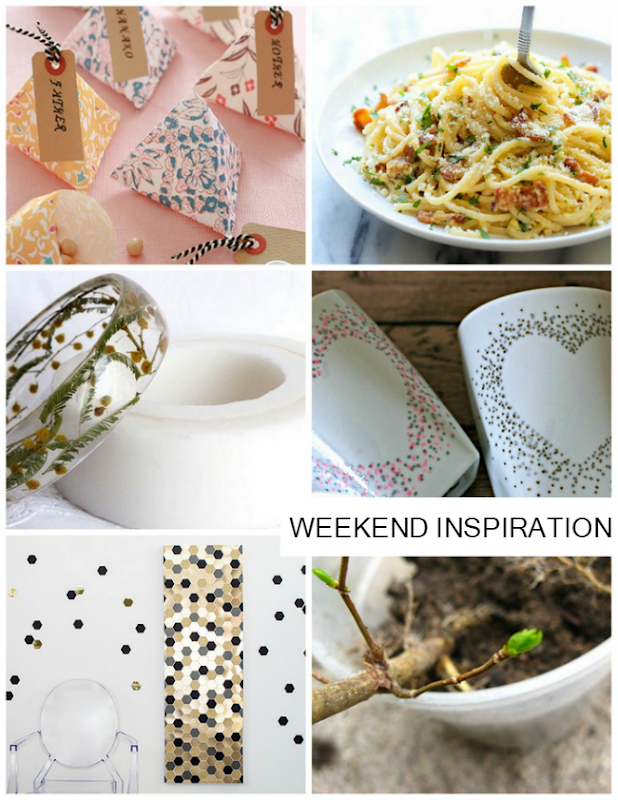 Weekend Inspiration: Pasta, hexagons, origami and more