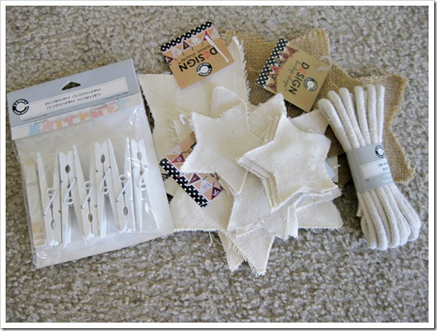 Supplies for Burlap and Canvas Patriotic Stars