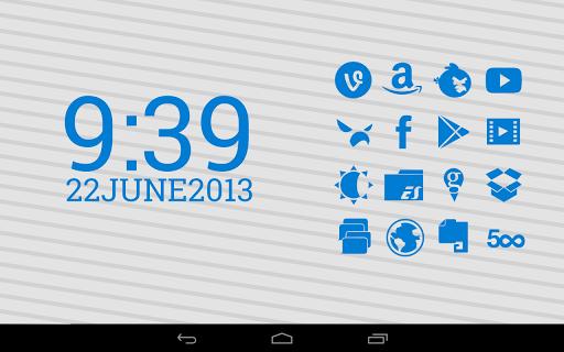 【免費個人化App】Stamped Blue Icons-APP點子