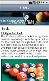 Official Billiard Rules Lite- screenshot thumbnail