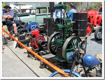 Whangamomona Republic Day. Vintage machinery display.