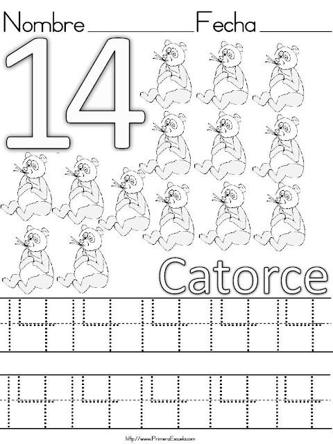 Caligrafia Del 11 Al 20