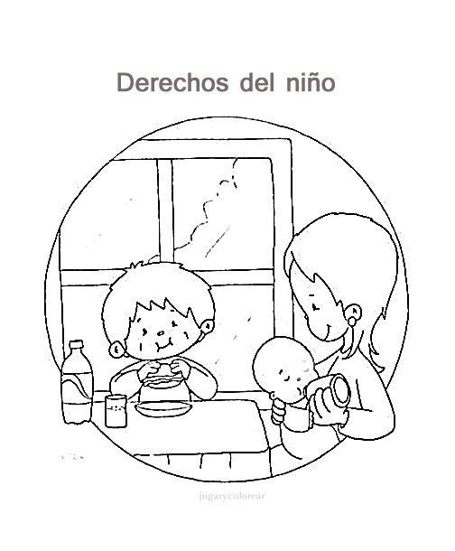 Dibujos De Los Derechos Del Nino Para Pintar Actividades Para
