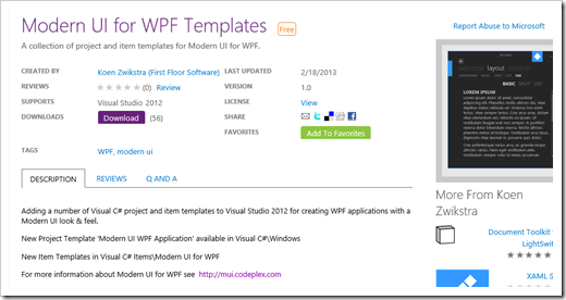 Modernize your wpf app 39 s with the modern ui for wpf for Wpf ui templates