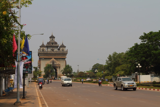 Patuxay Victory Gate, An important landmark in Vientiane, Laos