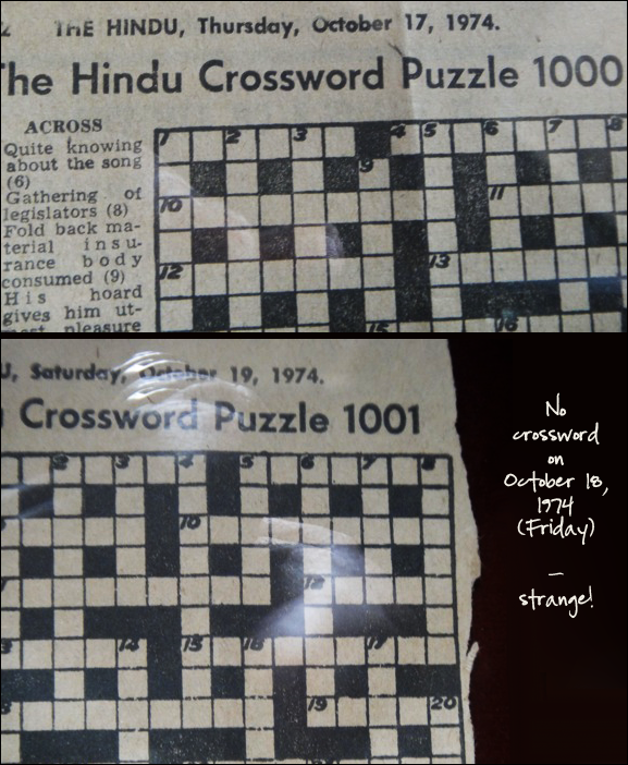 The Hindu Crossword 1000 and 1001