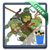 Ninja Turtles Coloring Kids