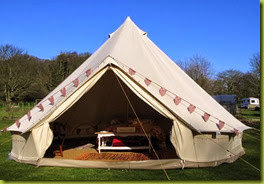 white lady bell tent