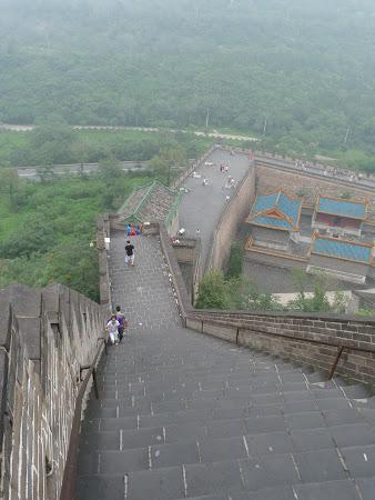 Imagini China: urcand pe Marele Zid