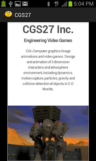 CGS27 Inc Responsive Web app