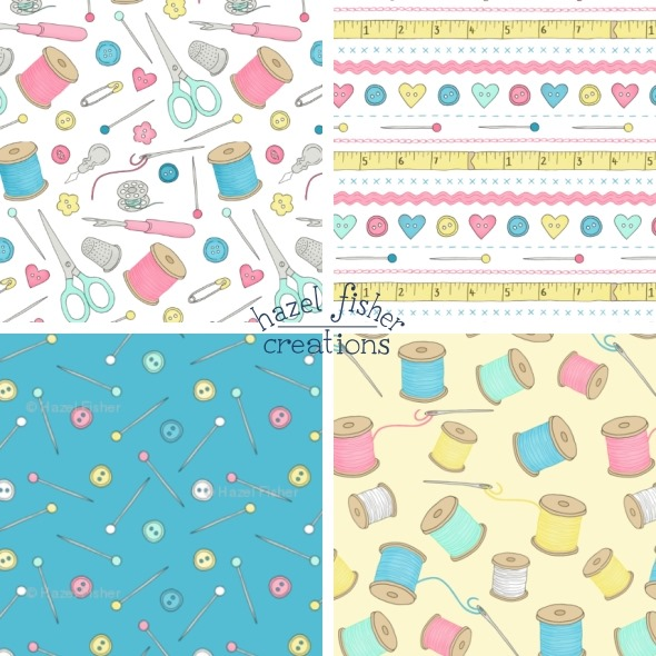 2014 August 07 new fabric designs spoonflower sewing notions hazel fisher creations