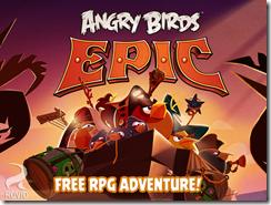 الواجهة الرئيسية للعبة Angry Birds Epic الطيور الغاضبة لأبل iOS