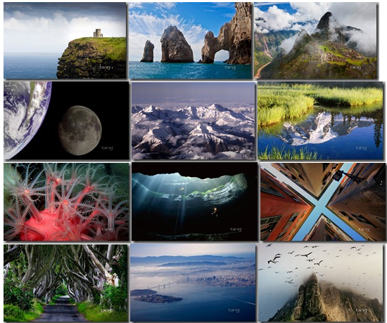 Just a small sample of the great Bing photo backgrounds you can find in this file