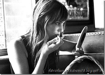 jane birkin and lipstick