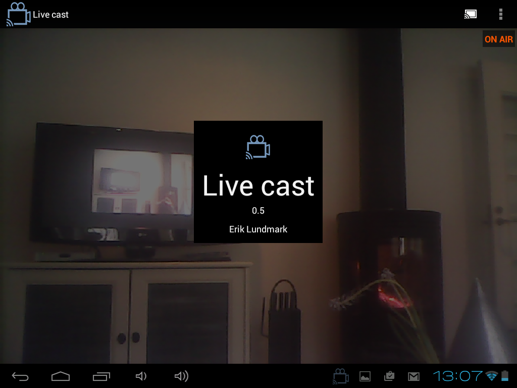 Live cast - IP camera- screenshot