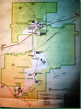 Petrified NP & Painted desert Map