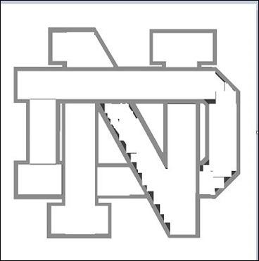 Notre Dame Logo Crochet Pattern