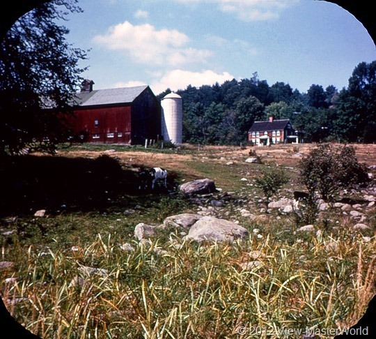 View-Master Connecticut (A750), Scene 10: A Connecticut Farm