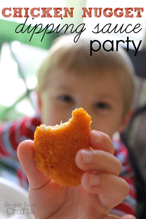 Chicken Nugget Dipping Sauce Party #LoveUrNuggets #ad GingerSnapCrafts.com