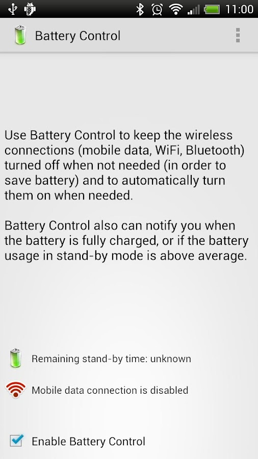 Battery Control- screenshot