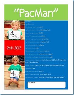 School Questionairre PacMan