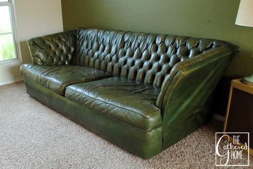 Found Vintage Tufted Green Leather Sofa The Gathered Home : green tufted leather sofa 53 from www.thegatheredhome.com size 600 x 402 jpeg 88kB