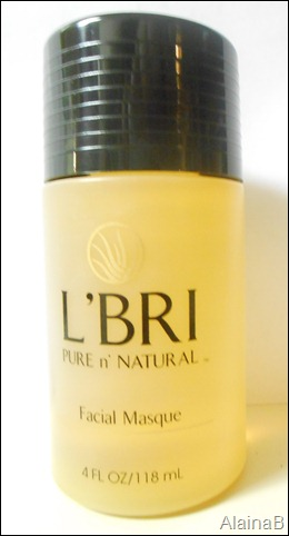 L'bri Pure and Natural Skincare facial masque