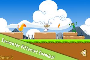 Screenshot of Hop Hop Bunny, the platformer