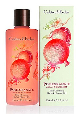 Crabtree & Evelyn Pomgranate, Argan & Grapeseed Body Care  Skin Cleansing Bath & Shower Gel (250ml, $30)