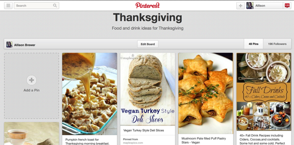 thanksgiving pinterest recipes