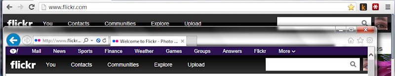 Flickr hide Yahoo Universal Header with CSS