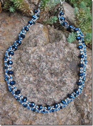 Blue necklace BS