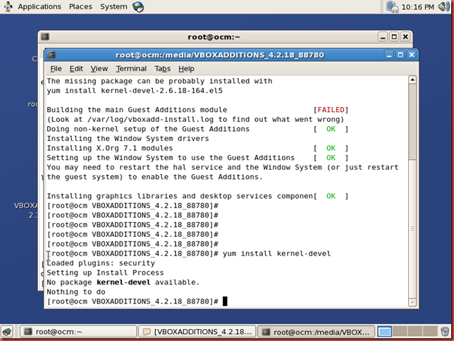 Not just a DBA !!!: Install VirtualBox linux guest additions