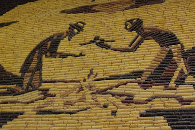 The murals really are made of corn cobs.