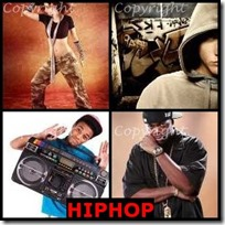 HIPHOP- 4 Pics 1 Word Answers 3 Letters