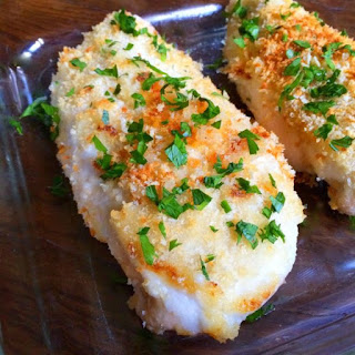 Crispy Garlic Baked Chicken.